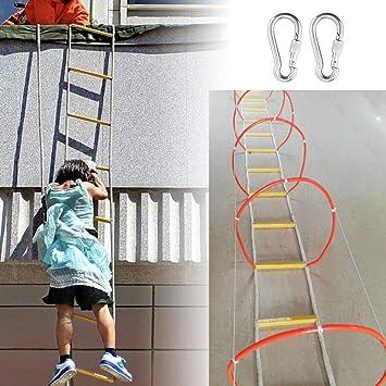 Escalera De Evacuación Rodeado De Cerrado Escaleras De Emergencia De Cuerda De Alambre De Escalera, Rescate Para Niños Y Adultos Escalera De Entrenamiento Reutilizable Adecuado Para Montañismo,50M: Amazon.es: Deportes y aire libre