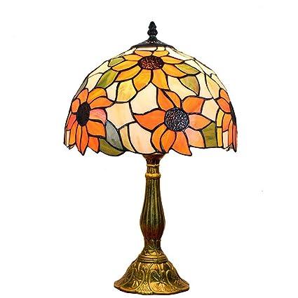 Carl Artbay GD Lámpara de Mesa Estilo Tiffany, 12 Pulgadas ...