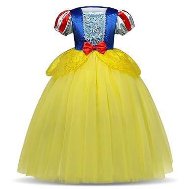 IBTOM CASTLE Blancanieves Disfraz con Capa Carnaval Traje de Princesa para Halloween Vestido Largo Navidad Fiesta Cumpleaños Cosplay Elegantes ...