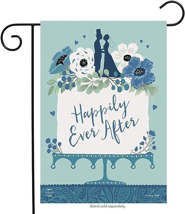 "Happily Ever After Wedding Garden Flag Marriage Bride & Groom 12.5"" x 18"""