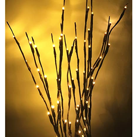Mofeng Lighted Twig Branches 60 Led Lights Artificial Tree Plants