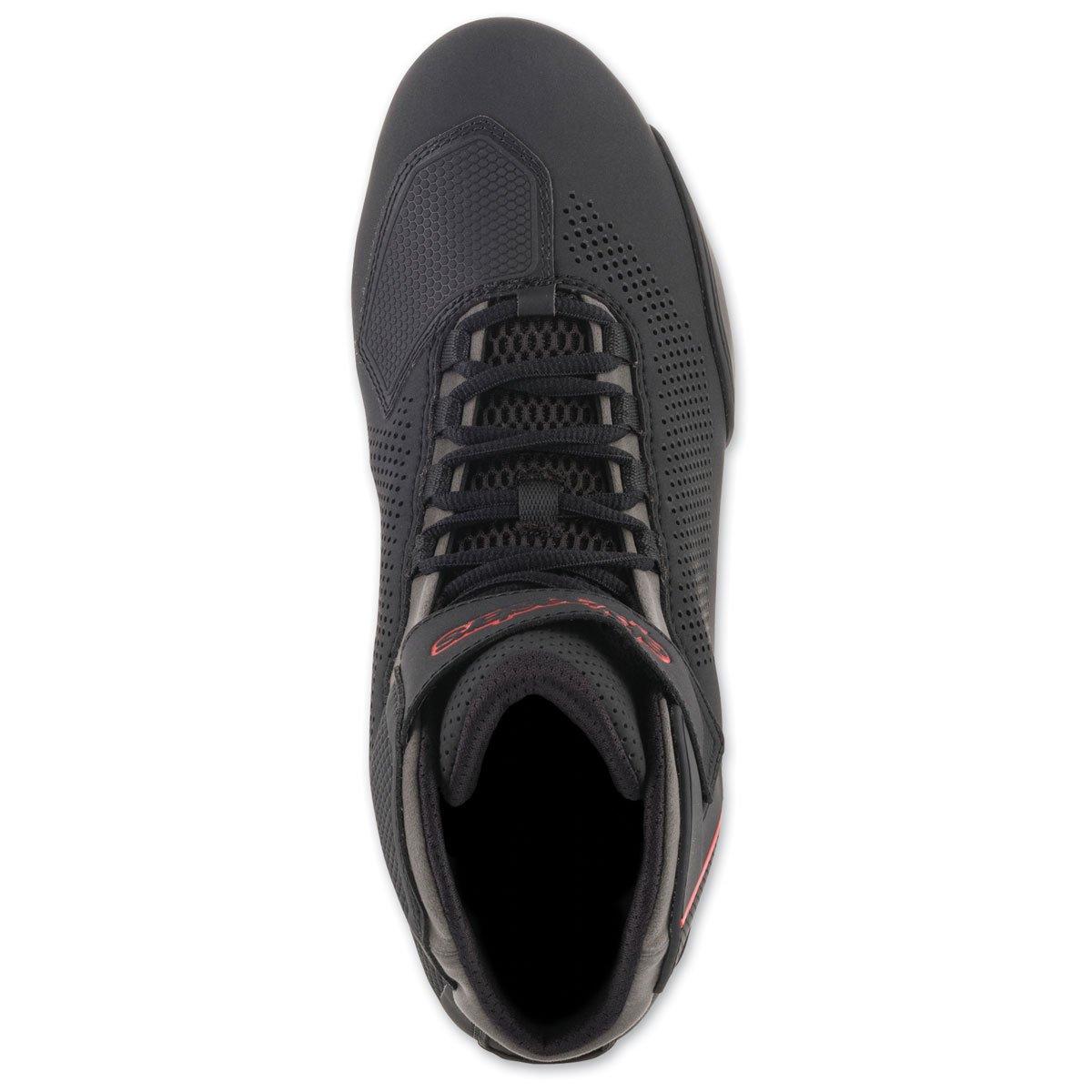 Alpinestars Mens 251561813110 Shoe Black//Grey//Red Size 10