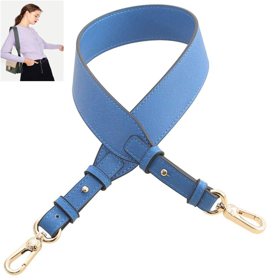 Bleu fonc/é SUPVOX Sac de Remplacement 2pcs Sangles Sac /à Main Sac /à Main poign/ées PU Bracelet en Cuir Bracelet de Remplacement poign/ée Bouton Pression Bouton