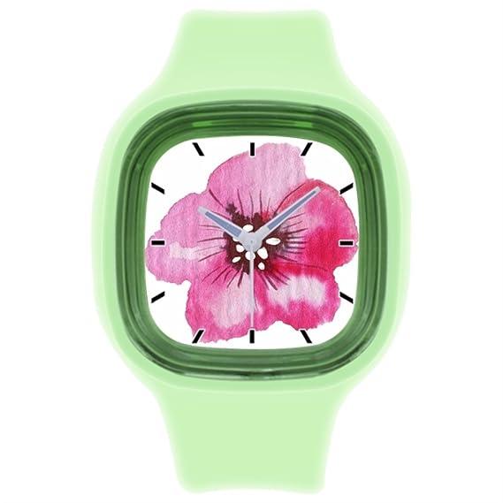 kosmore deportes para damas de honor pulsera de silicona reloj de pulsera deportivo muñeca relojes para las mujeres verde: Amazon.es: Relojes