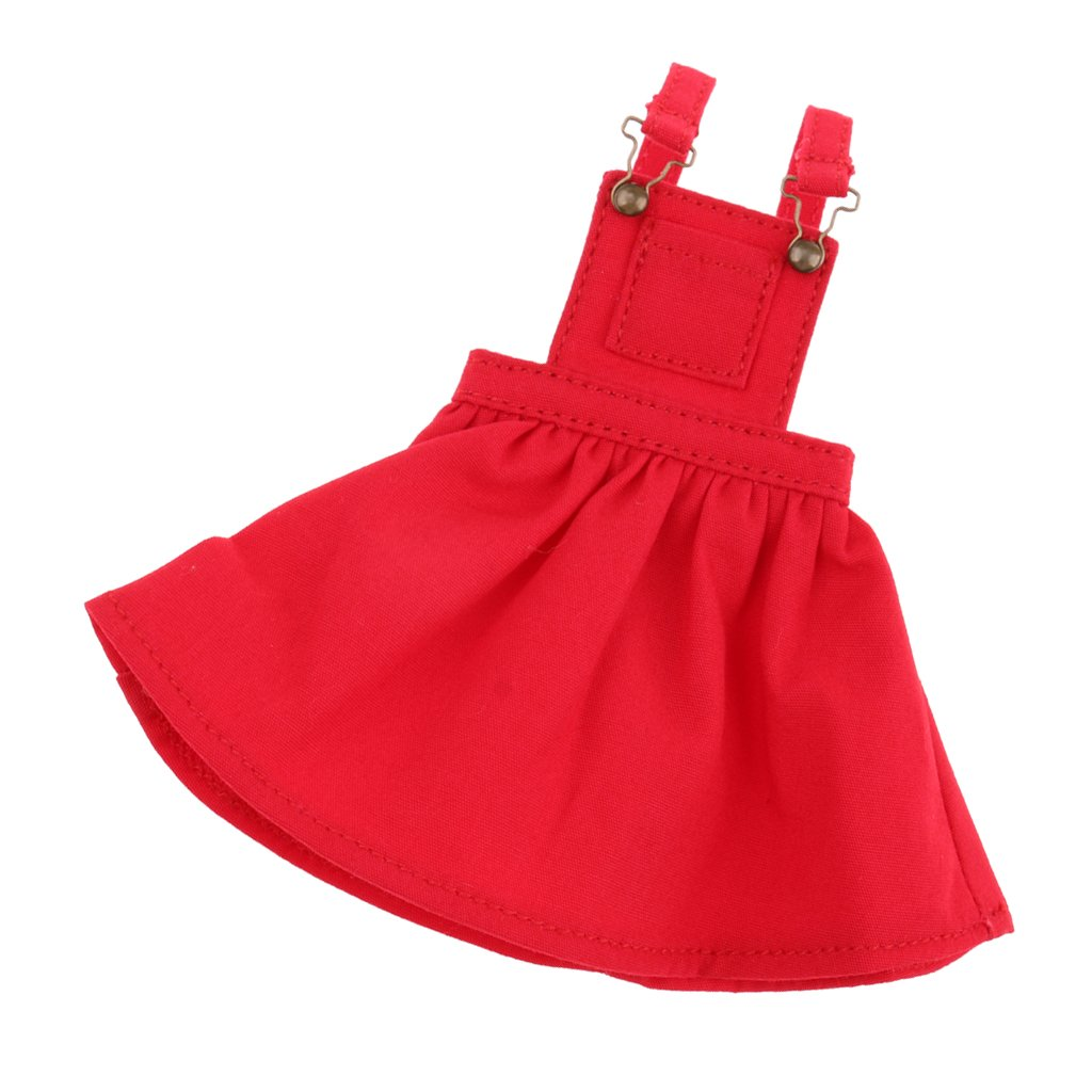 Dolity 1/6 Pretty Suspender Skirt for 12inch Neo Blythe Doll Clothes Toy Girls Gift - Red, as described