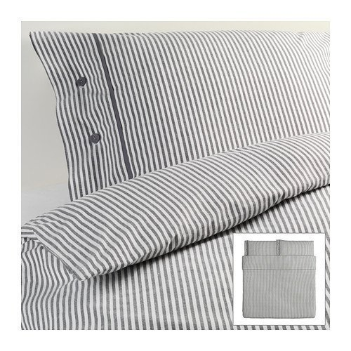 Beautiful White and Gray Striped Pattern Duvet Cover and Pillowcases King Size Ikea - Duvet Cover King Size Ikea