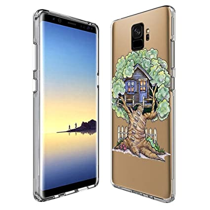 Amazon.com: Samsung Galaxy S9 Funda Transparente, Schnauzer ...