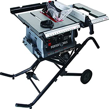Jobsite Table Saw With Fold And Roll Stand 10 Amazon Com