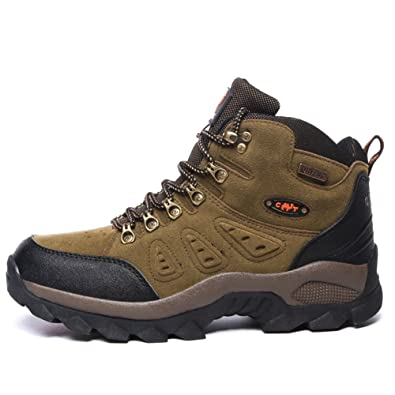 Unisex couple Men's Women's Outdoor Suede Leather High top shoe Hiking Boot Backpacking Boot
