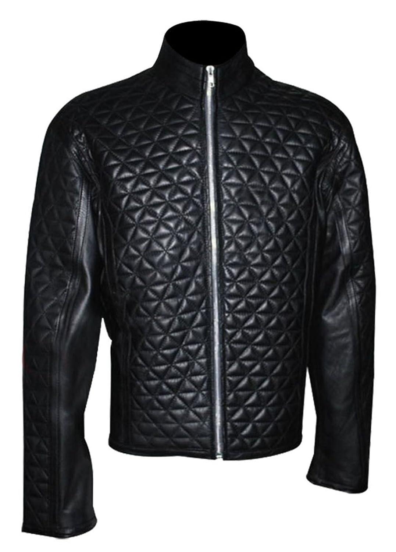 True Blood Alexender Eric Northmen Black Quilted Leather Jacket