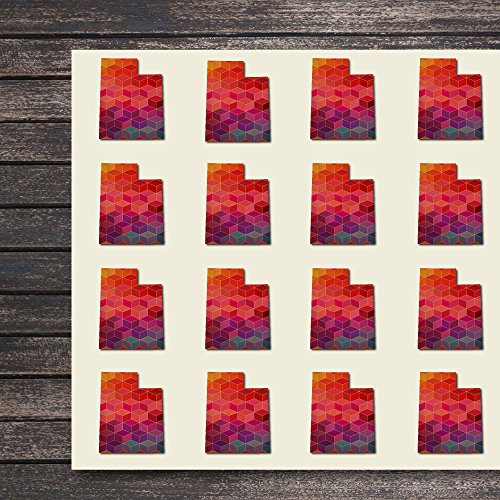 Utah State Craft Stickers, 44 Stickers at 1.5 Inches, Great Shapes for Scrapbook, Party, Seals, DIY Projects, Item 1321558