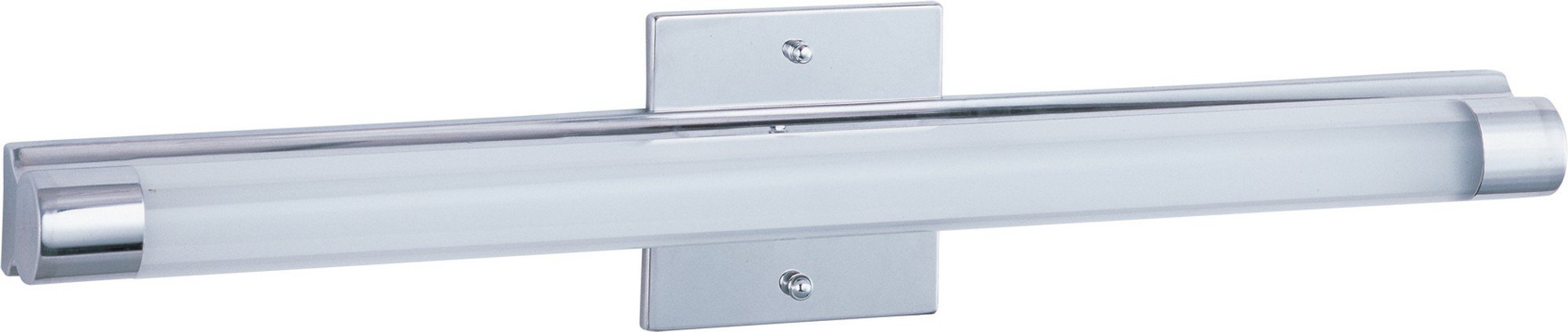 ET2 E22392-10PC Wand LED Bath Vanity, Polished Chrome Finish, Clear/White Glass, PCB LED Bulb, 48W Max., Dry Safety Rated, 2900K Color Temp., Standard Dimmable, Vinyl Shade Material, 800 Rated Lumens