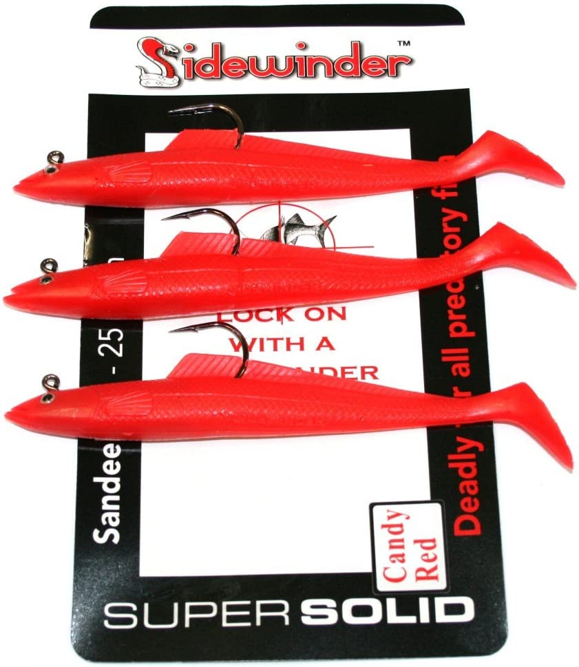 Cod Bass Wrasse Ling Sea Fishing Lures Sidewinder Super Solid//Holo Sandeels