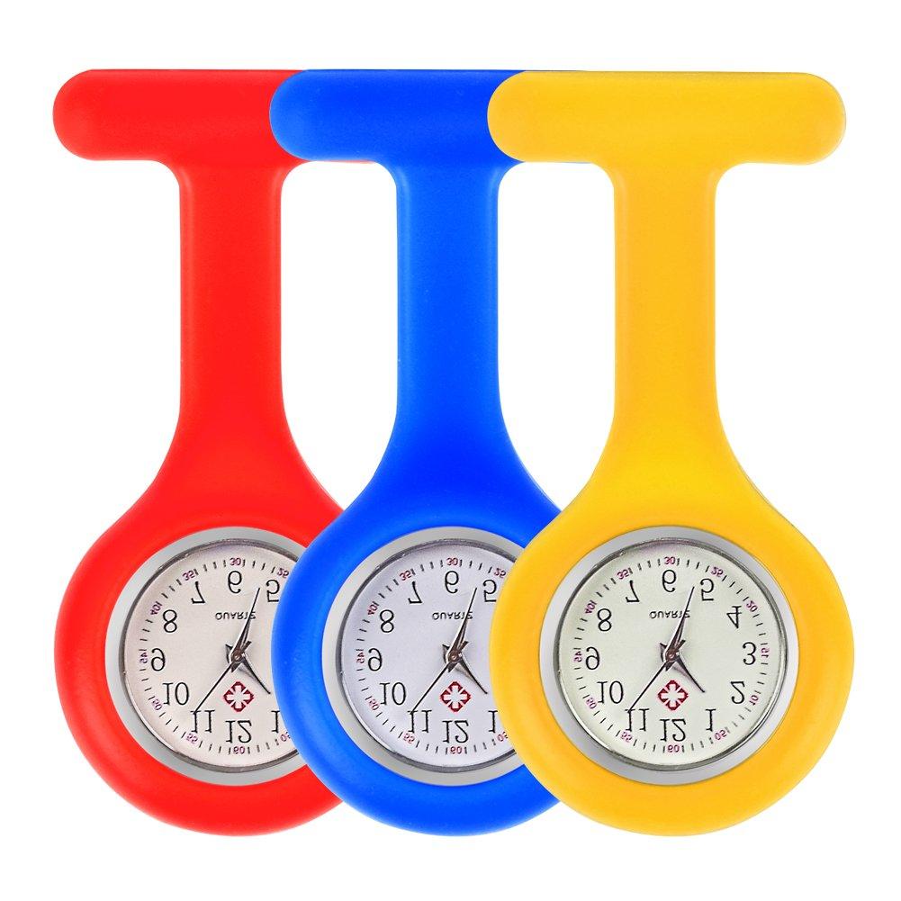 Freshday Nurse Watch, Waterproof Silicon Pocket Brooch Fob Watch, Timepiece Clock for Hospital, Doctors, Nursing, Health Care (Blue) by Freshday (Image #8)