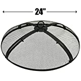 EasyGo 24 INCH FIRE SCREEN – FIRE PIT COVER – FIRE SCREEN PROTECTOR