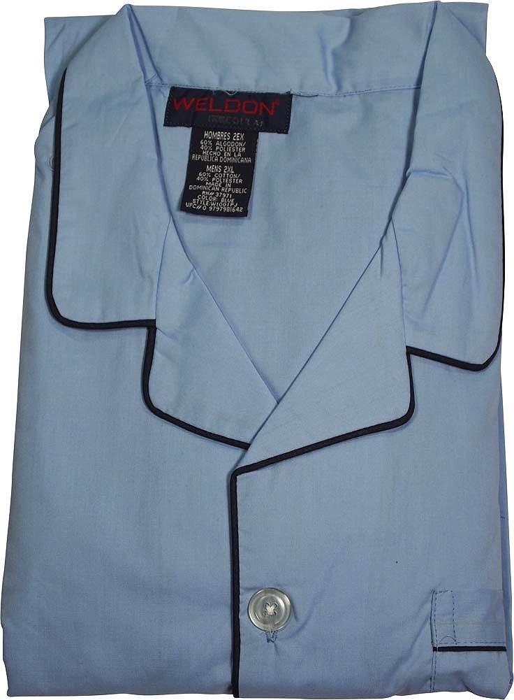 Amazon.com: Weldon - Mens Big Long Sleeve Long Leg Broadcloth Pajamas: Clothing