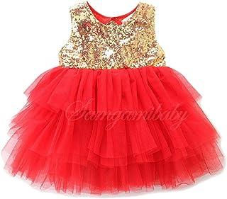 Jimmackey Neonata Senza Maniche Bowknot Halter Paillettes Vestito Bambine Tutu Abito Principessa Partito Netto Filato Dress