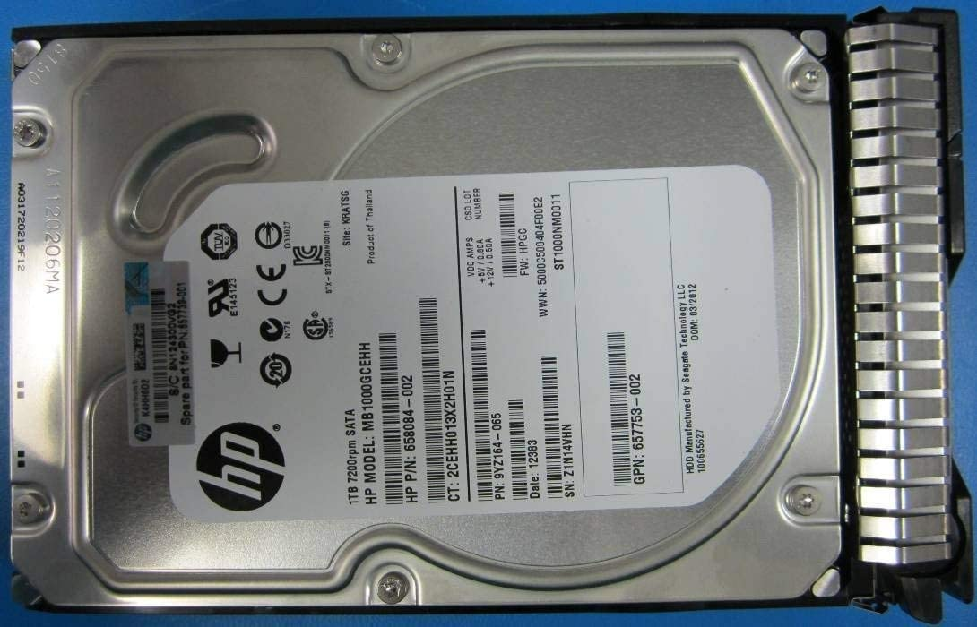 HP 657739-001 1TB 6G SATA 7.2K 3.5IN SC MDL HDD - 657750-B21
