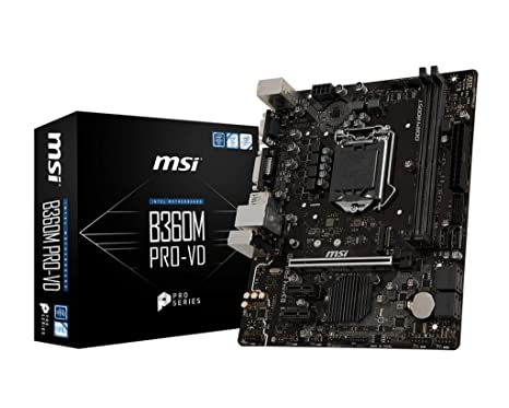Motherboard MSI B360M PRO-VD Motherboards at amazon