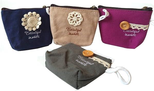 Damen Geldbörse Mini Blumen Geldbörse Geldbeutel MünzbörseMünze Täschchen Bag