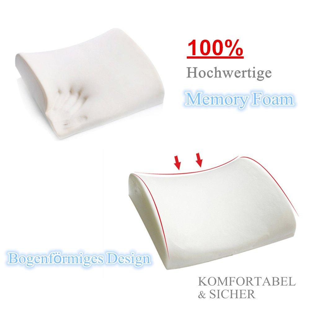 Kealive Cuscino Lombare traspirante Supporto Lombare di Premium Memory Foam Ortopedico Ergonomico
