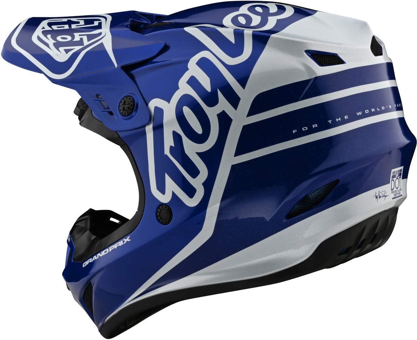 Troy Lee Designs GP Silhouette Motocross Helm Blau//Wei/ß L