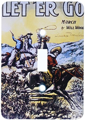 3dRose lsp_169967_1 Let Her Go March by Will Wood Cowboys on Horseback Shooting Single Toggle Switch