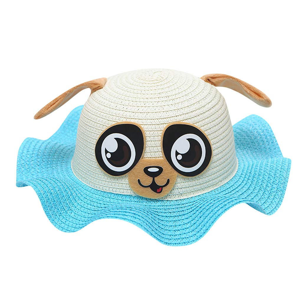 Tronet Summer Leisure Kids Baby Hat Cap Breathable Cartoon Hat Ears Straw Sun Protection Hats Baby Breathable Hat