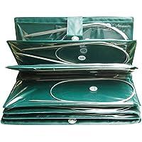 Circulares de ganchillo de acero inoxidable(11 Pcs),agujas profesionales