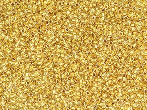 TOHO Bead Round 15/0 24K Gold Lined Crystal