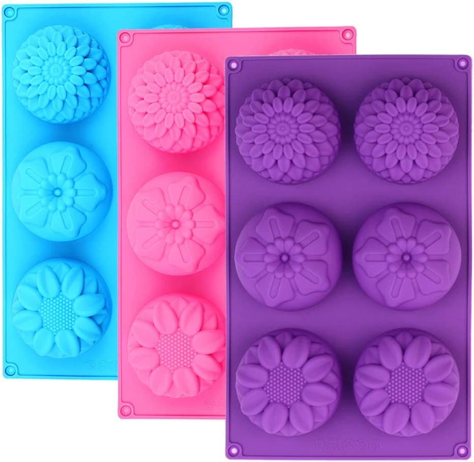 6 Cavities Silicone Soap Mold DIY Wedding Handmade Craft Gift Cake Decor Tool