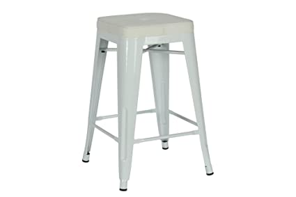 Amazon Com Novogratz Sedona Counter Stool With Metal Legs And Faux