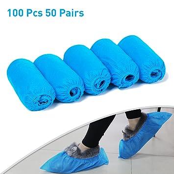 100stk Schuhüberzieher Einmal Einweg Überschuhe Überzieher Shoe Cover Schuhe