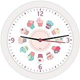 Relogio De Parede Redondo Mini Cupcakes Branco 21,7-01 Unidade Bell´s Multicor