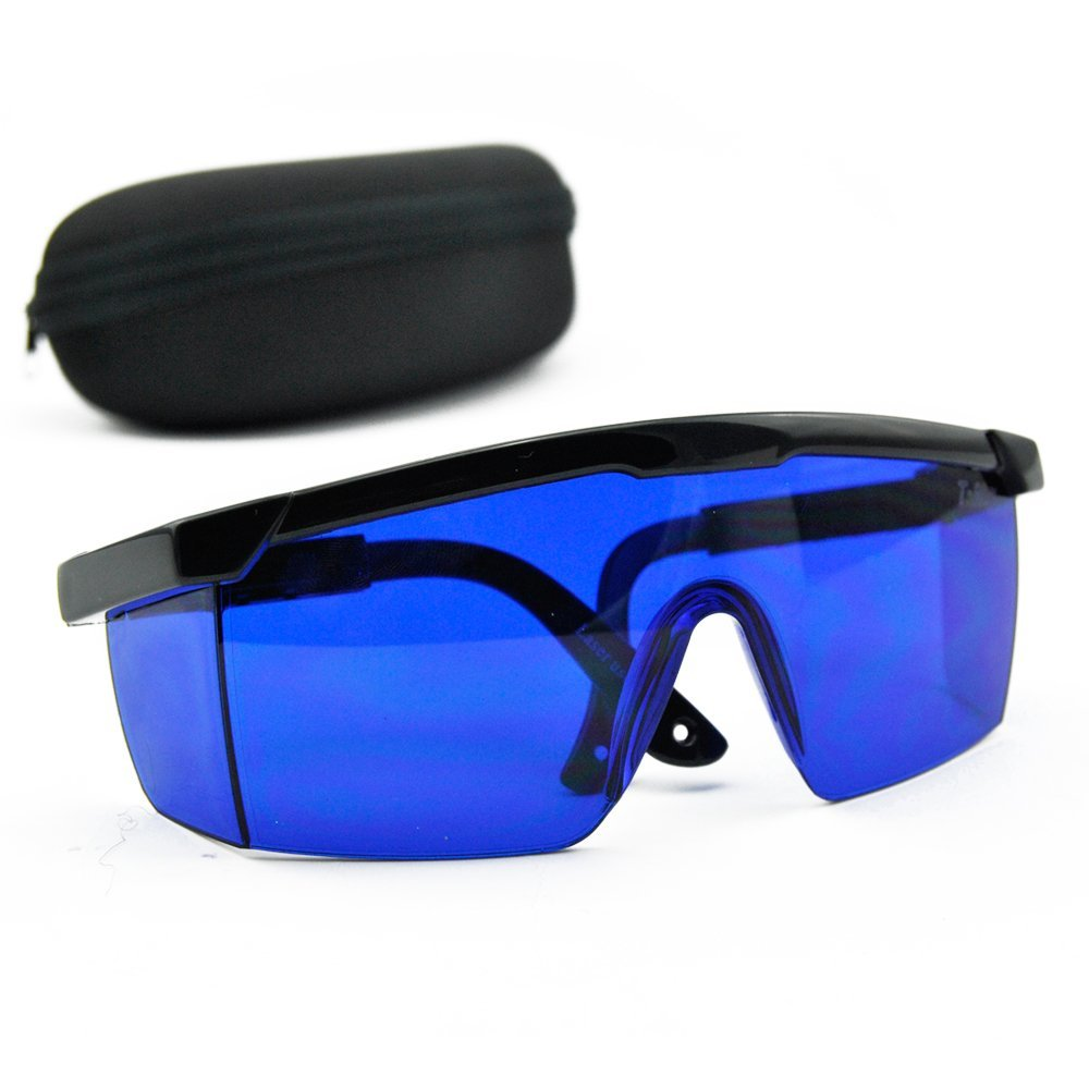 0e148dde78d Blue Safety Glasses 492nm-770nm Red Green Yellow Laser Eye Protection  Goggles