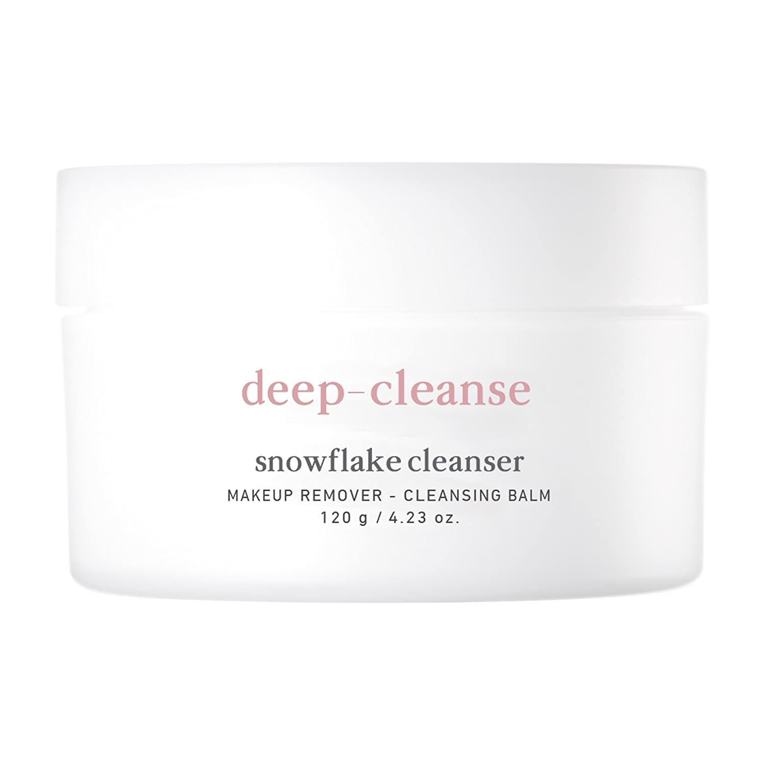 NOONI Deep-Cleanse Snowflake Balm Cleanser, Face Cleanser, Korean Skin Care, Makeup Remover, Cleansing Balm, Facial Wash, Korean Beauty, Moisturizer for face, 4.23 Ounces