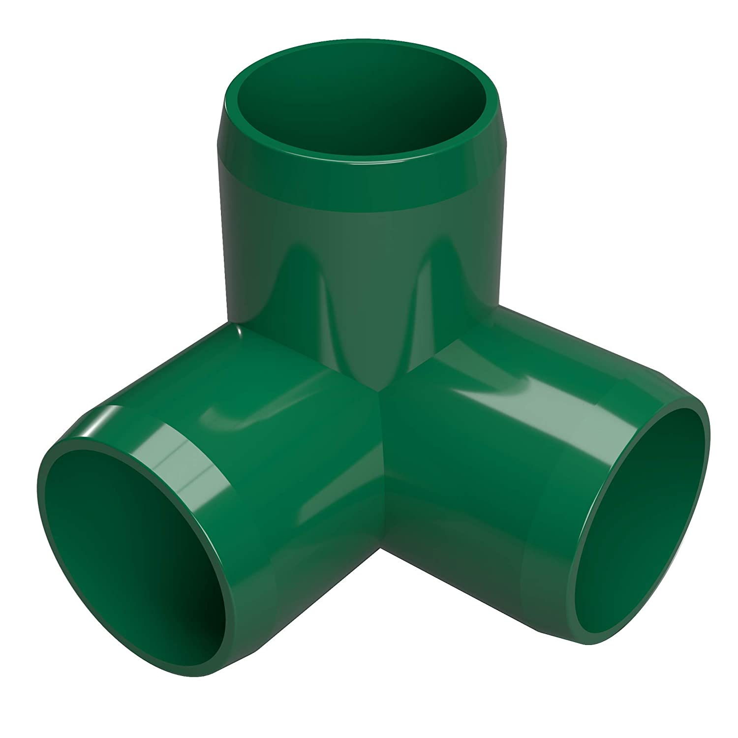 FORMUFIT F0343WE-GR-8 3-Way Elbow PVC Fitting, Furniture Grade, 3/4' Size, Green (Pack of 8) 3/4 Size