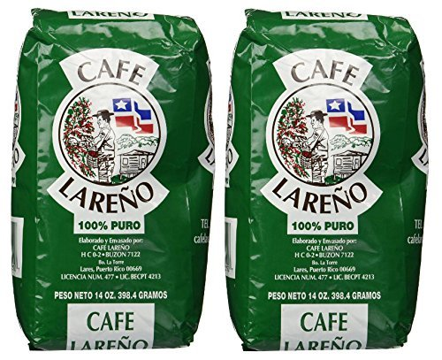 Café Lareño Ground Coffee Puerto Rican Coffee 2 Bags of 14oz. Each
