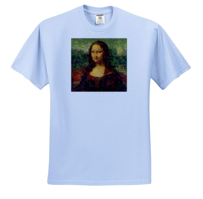 Mona Lisa Lettuce Fine Art Vegan Parody Digital Art T-Shirts 3dRose Taiche Vegetable Decoupage