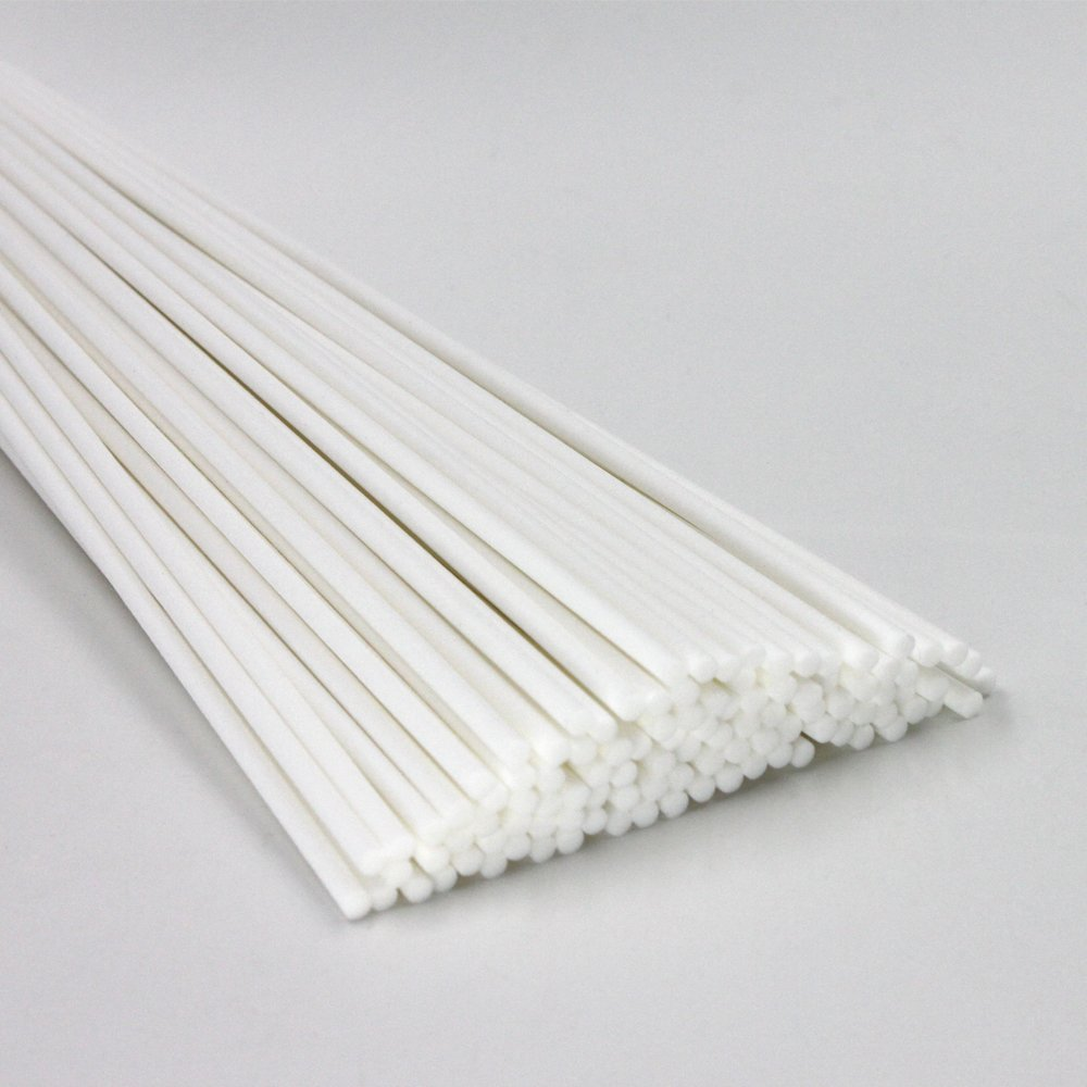 Fiber Reeds Diffuser Replacement Sticks 12 X 0.12Inches/3mm-White (100Pcs)