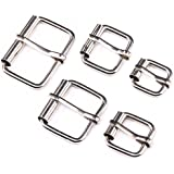 Swpeet 50 Pcs Assorted Multi-Purpose Sliver Metal Roller Buckle Ring for Hardware Belt Bags Ring Hand DIY Accessories…