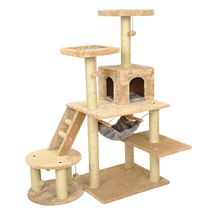Amazon.com : YD Pet Nest - Cat Nest Large Cat Tree Kitten Scratching After Climbing Tower Pet Software Game House Platform Activity Center Cat Grab ...