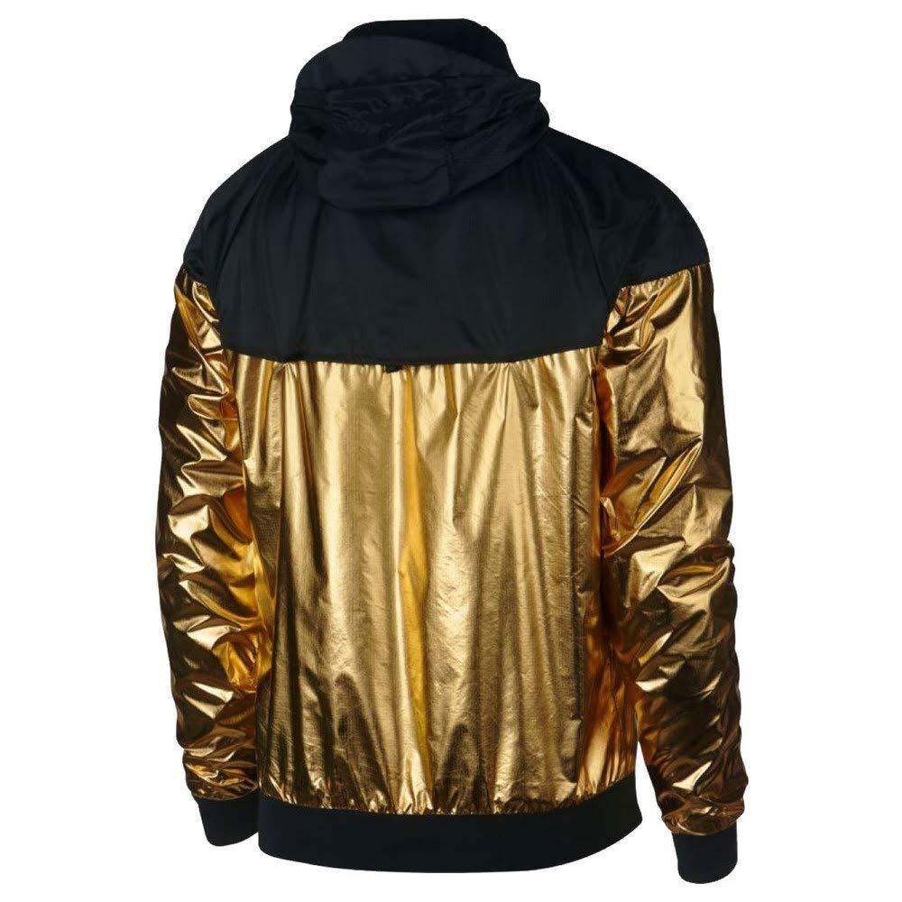 ef18200ed458 Nike Sportswear Windrunner Jacket - Gold Black - L  Amazon.co.uk  Clothing