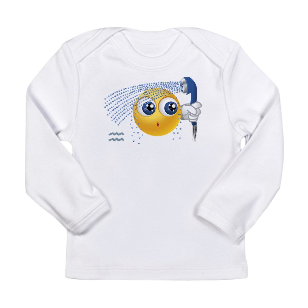 3 To 6 Months Truly Teague Long Sleeve Infant T-Shirt SmileyFace Zodiac Aquarius Cloud White