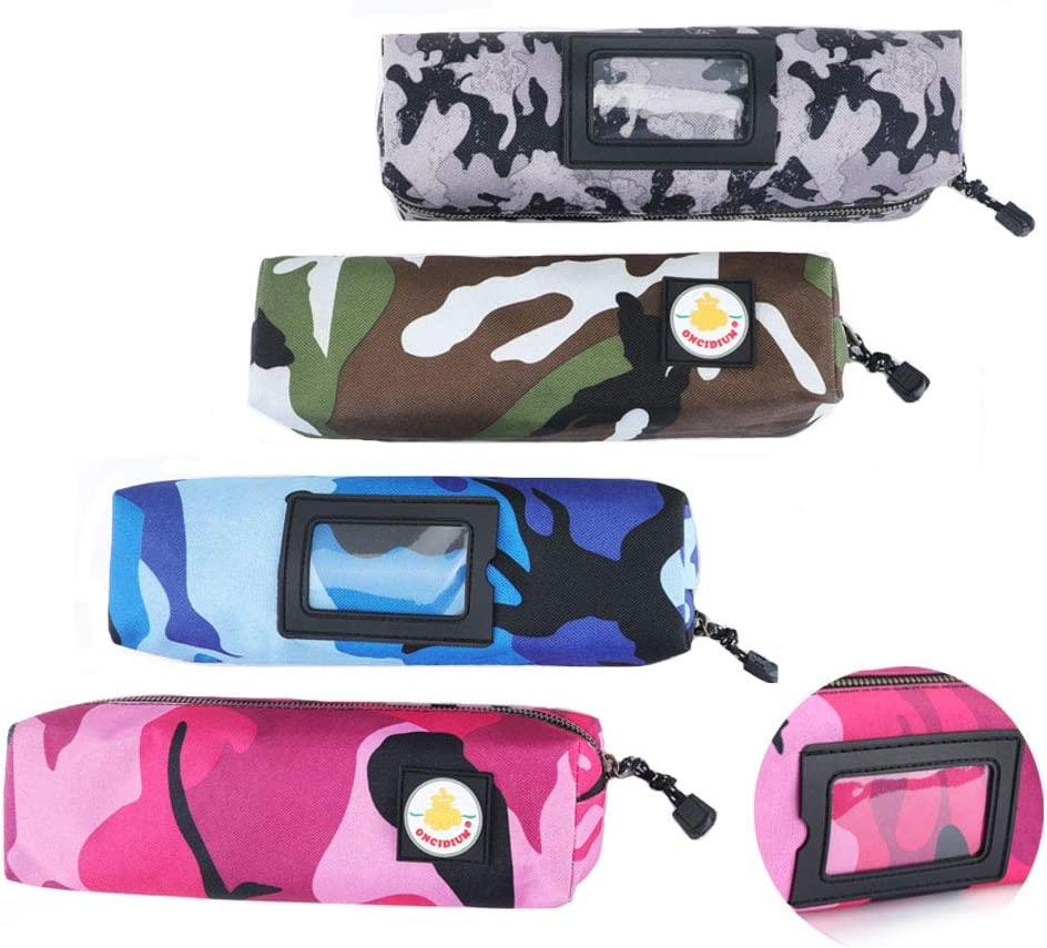 4 pack Tool Pouch Utility Zipper Tool Bags, Heavy Duty Metal Zippers Pouches with Organize Note Multi-purpose Polyester Camouflage Storage Organizer Pen case Tote Bags by ONCIDIUM