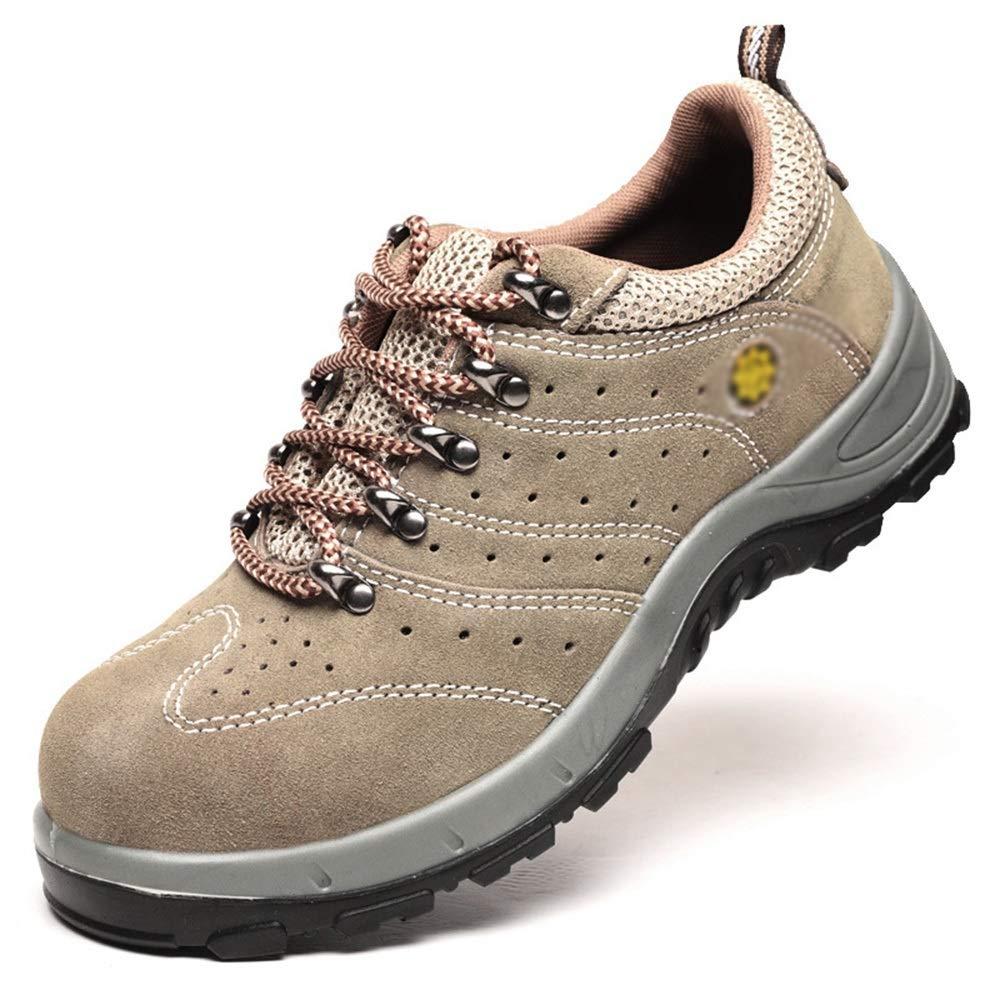 Nude  Santonliso Sommer Outdoor-Wanderschuhe Sicherheit atmungsaktiv Schutzschuhe Arbeitsversicherung Schuhe Anti-Smashing Anti-Rutsch-Anti-Rutsch (Farbe   Nude, Größe   46)