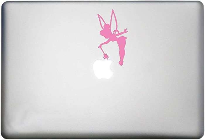 Tinkerbell Fairy Dust Sticker MacBook Pro Decal is a Disney Tinkerbell Fairy MacBook Sticker Silhouette Vinyl Decal. Laptop Sizes 11, 12, 13 and 15 inch. Many Colors-Soft Pink