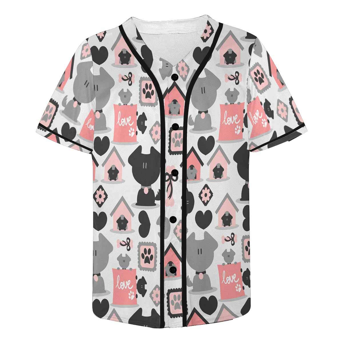 INTERESTPRINT Mens Fashion Baseball Jersey T-Shirt
