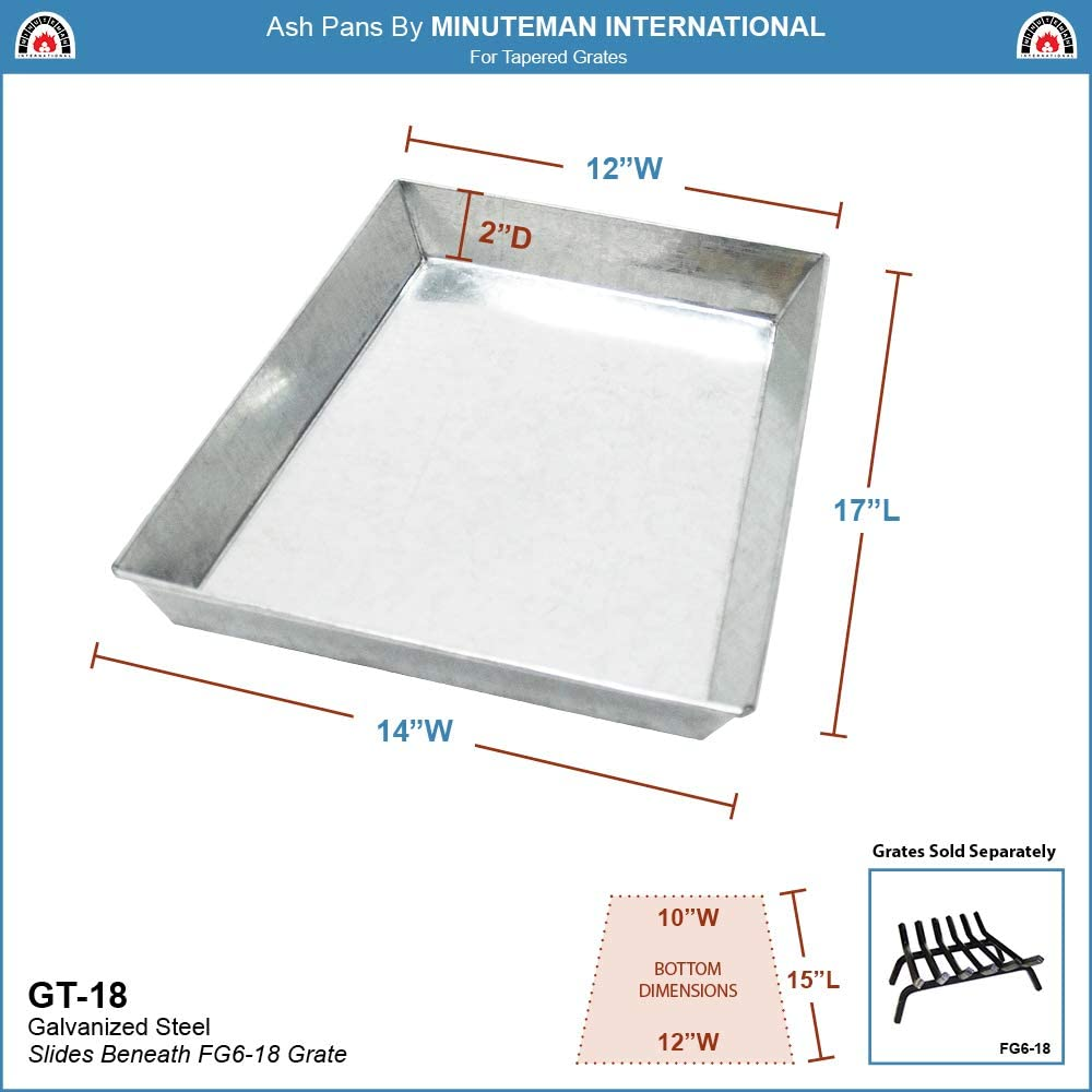 Minuteman International Ash Pan Set for 33 Fireplace Grates