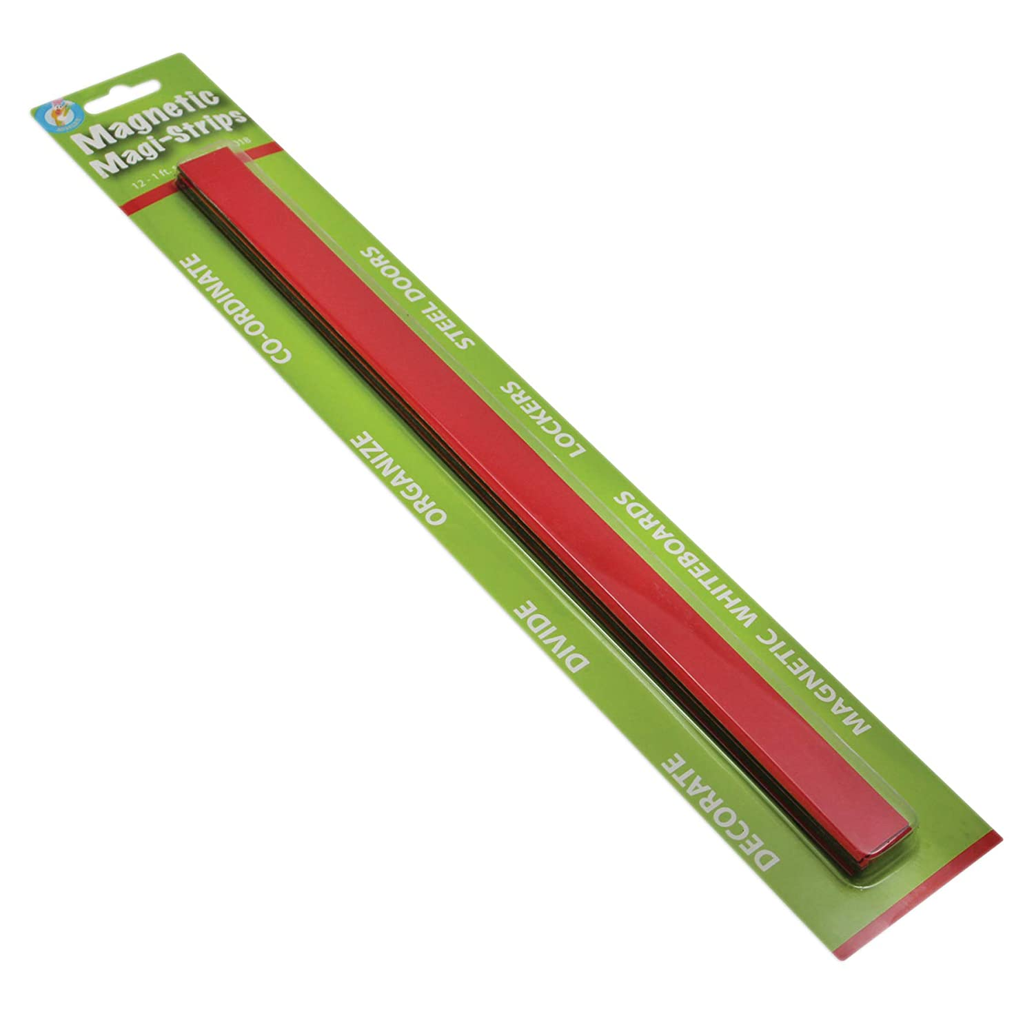 12 Piece 3//4 x 12 Ashley Productions Red Magnetic Magi-Strip